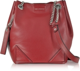 Karl Lagerfeld K/Slouchy Dark Pomegranates Leather Small Bucket Bag