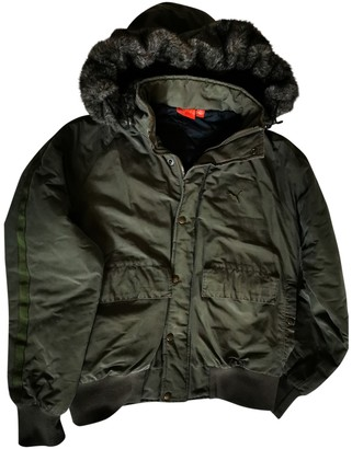 Puma Green Cotton Jacket for Women