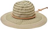 San Diego Hat Company Women's Fedoras OLIVE - Olive Chin-Cord Ribbon Floppy Hat