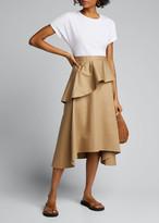 3.1 Phillip Lim T-Shirt Ruffle Skirt Dress