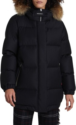 Woolrich Luxe Aliquippa Down Parka with Genuine Coyote Fur Trim