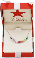 Giani Bernini Multicolor Cubic Zirconia Collar Necklace in Sterling Silver, Only at Macy's