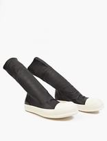 Rick Owens Black Leather Hi-Top Sneaker Boots