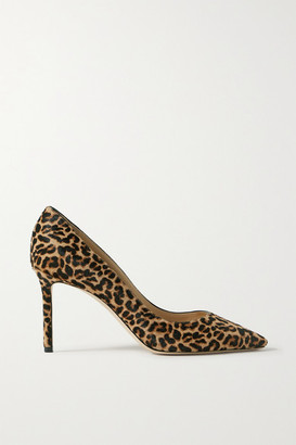 Jimmy Choo Romy 85 Leopard-print Calf Hair Pumps - Leopard print