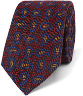 Etro 6cm Paisley Wool And Silk-blend Jacquard Tie - Red