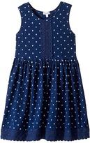 Splendid Littles Indigo w/ Lace Trim Dress (Little Kids)