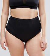 Asos Mesh Insert Supportive Bikini Bottom