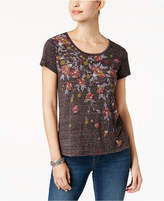 Style&Co. Style & Co Style & Co Petite Floral-Print T-Shirt, Created for Macy's