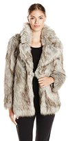 Betsey Johnson Women's Faux Fur Coat
