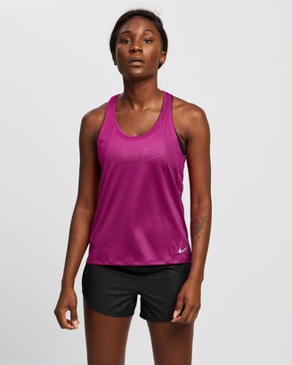 Nike Women's Pink Muscle Tops Run Tank - Size XS at The Iconic