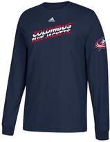 adidas Men's Columbus Blue Jackets Line Shift Long Sleeve T-Shirt