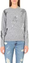 Mo&Co. Thunder sequin-embellished knitted jumper