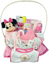 Bassket.com Newborn Baby Girl Gift Basket- Medium
