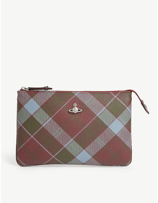 Vivienne Westwood Derby tartan print faux-leather purse