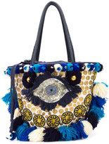 Figue 'Mediterranean Tuk Tuk' tote bag - women - Cotton/Leather/Acrylic/glass - One Size
