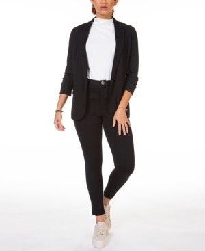 Black Tape Petite Ruched-Sleeve Blazer