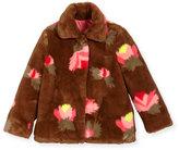 Billieblush Faux-Fur Floral Coat