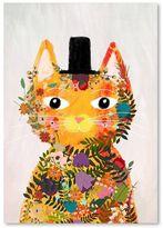 Americanflat Flower Cat Print Art, Print Only