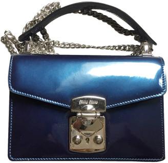 Miu Miu Navy Patent leather Handbags