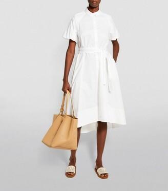Peserico Chain-Detail Cotton Midi Dress