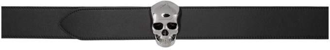 Alexander McQueen Reversible Black and Brown New 3D Skull Belt