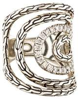 John Hardy Diamond Classic Chain Cocktail Ring