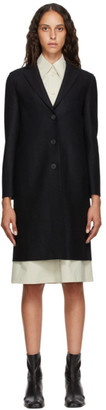 Harris Wharf London Black Virgin Pressed Wool Coat