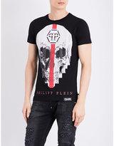Philipp Plein Skull-print Pure-cotton T-shirt