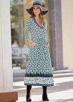 Together Floral Border Print Dress