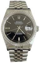 Rolex Datejust 16220 Stainless Steel Quickset Sapphire Jubilee Black Mens Watch