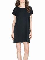 Neiman Marcus Basic Back-Tie Dress, Black