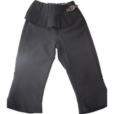 Burberry Blue Polyester Trousers
