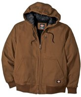 Dickies Men's Sanded Duck Sherpa Lined Hooded Jacket