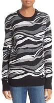 Equipment Women's 'Ondine' Print Zip Shoulder Wool Sweater