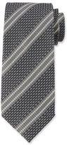 Tom Ford Retro 3D Stripe Silk Tie, Gray