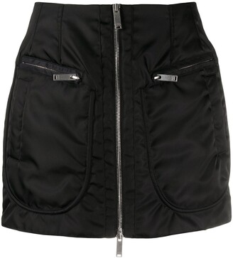 Marcelo Burlon County of Milan Zip-Through Mini Skirt
