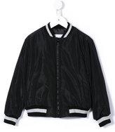 MSGM sequin logo bomber jacket