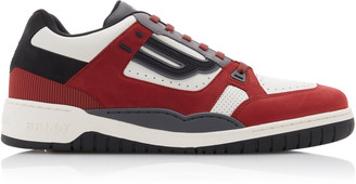 Bally Kuba Suede and Leather Sneakers