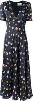 Christopher Kane long pansy print dress - women - Silk/Acetate/Viscose - 40