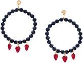 Venessa Arizaga strawberry beaded earrings