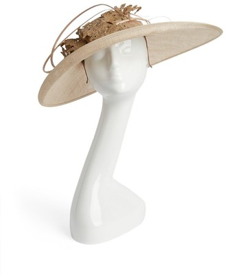 Vivien Sheriff Lace Flower Sinamay Hat