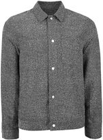 Topman Grey Textured Smart Coach Jacket