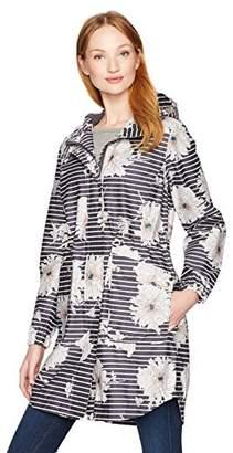 Joules Women's Raina Coat, Grey Peony Stripe