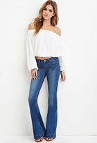 Forever 21 Flared Pocket-Front Jeans
