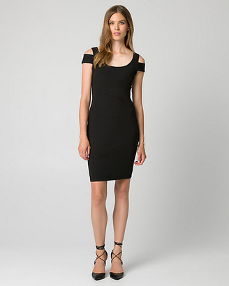 Le Château Knit Crepe Scoop Neck Shift Dress