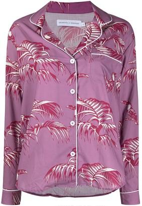 Desmond & Dempsey Floral-Print Pyjama Set
