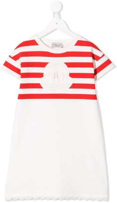 Moncler Enfant logo striped T-shirt dress