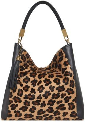 Vodkablue Leopard Print Leather Grab Bag