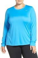 Nike Plus Size Women's 'Miler' Dri-Fit Long Sleeve Top