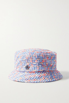 Maison Michel Axel Cotton-blend Tweed Bucket Hat - White